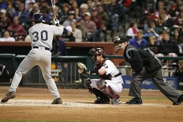 A typical modern baseball game