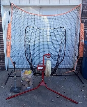 Pitching Machine at Home