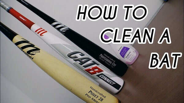 Cleaning bat with alcohol